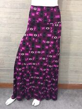 XL Lularoe Maxi Skirt Wine Purple Tribal Aztec Stretch Unicorn Slinky