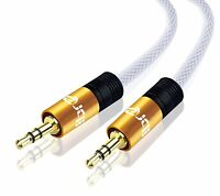 1M 3.5mm Jack Plug To Plug Male Nylon Audio Cable For Headphone/Aux/MP3/iPod
