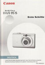 Canon Digital IXUS 95 IS Camera Original Basic 'Erste Schritte' Manual Deutsch