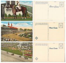 Churchill Downs KENTUCKY DERBY Horse Races GALLAMADION Vintage Postcards MINT