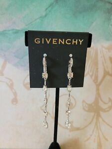 GIVENCHY  Crystal Long Linear Earrings