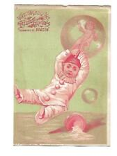 Brooks & Wallbridge Bros Boston Furniture Carpets Floating Bubble Card c1880s