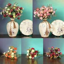 Artificial Rose Silk Flower Bridal Flower Bouquet Home Wedding Party Table Decor