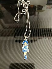 """Sailor Mercury Anime Character Jewelry Enamel Necklace Stainless steel 20"""" USA"""