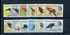 British Honduras 1962 birds defin set fine MNH