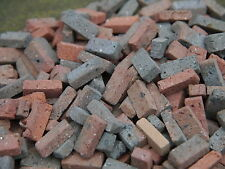 250 Old Dark Stock REAL Miniature Bricks