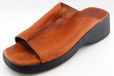Minnetonka Slides Orange Leather Women Shoes Size 10 Medium (B, M)