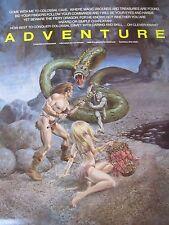 Orig 1980s CompuServe ADVENTURE Video Game Promo Poster artwrk Gray Morrow SciFi