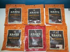 Krave Beef Cuts Jerky Sweet Chipotle Garlic Chili Peppered LOT 6x2.7=17 3& 4/20