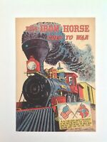 The Iron Horse Goes to War May 1960 Comic Book Association of American Railroads