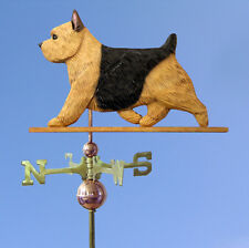 Norwich Terrier Hand Carved Hand Painted Basswood Dog Weathervane Black &Tan