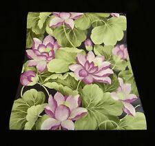45037-30-) 3 Rollen hochwertige, dicke Vinyl Tapeten Lotusblüten Design