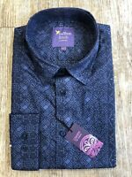 New Mens LIMITED EDITION Liberty Print Navy Blue Shirt by Saffron Finch.
