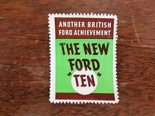 "1930s Another British Ford ""Ten"" Auto Car Achievement Advertising Sticker Used"