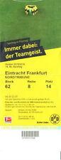 Eintrittskarte Ticket 15/16 Borussia Dortmund Eintracht Frankfurt BVB  2015/2016