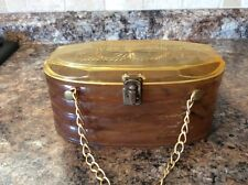 Vintage Bakelite/Celluloid Butterscotch/Tortoise Purse/Gold Chain