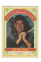TED WILLIAMS 1989 J J Nissen Superstars Baseball Card #20 Red Sox HOF