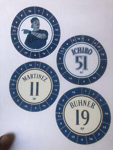 Cadaco All Star Baseball Jersey Discs AL West
