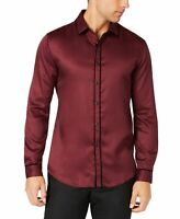 INC NEW Port Royale Red Black Mens US Size 2XL Piped Button Down Shirt $69 #178