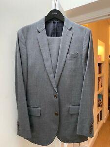 J Crew Men's 2 piece Light Grey Wool Suit, Ludlow Style