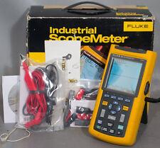 Fluke 123 Industrial Scopemeter Oscilloscopemultimeterdmmscope Meter 20 Mhz