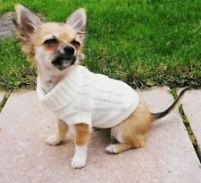 XXS Chihuahua Teacup Puppy Coat Pet Dog Clothes Clothing Stretch Winter White
