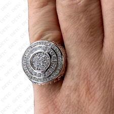 14k White Gold Over Mens Round Diamond Wedding Engagement Pinky Ring Band 2.00Ct