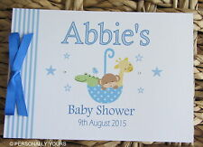 PERSONALISED  BABY SHOWER . CHRISTENING .BAPTISM MESSAGE BOOK / PERSONALISED  BA