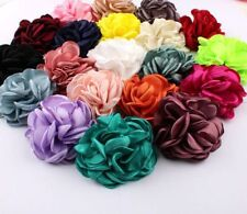 Vintage Soft Artificial Chic Hair Chiffon Fabric Flowers For Headbands 20pcs