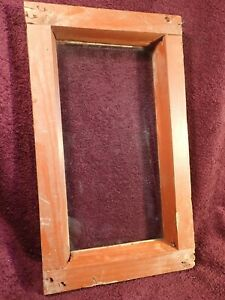 ANTIQUE SMALLER HANDMADE WOOD FRAME WINDOW with GLASS SCANDINAVIA EUROPE