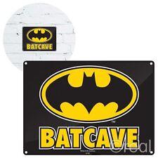 New DC Comics Batman Batcave Metal Sign Plaque 21 x 15cm Wall Art Official