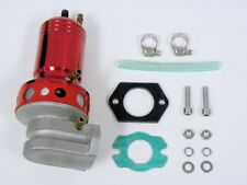 RED UNIVERSAL JDM TWIN CHAMBER ADJUSTABLE RACING TURBO BLOW OFF VALVE