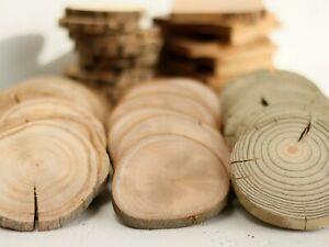 WHOLESALE 2-10CM Wood Log Slices Discs Round Wedding Rustic ECO Crafts Coasters