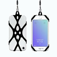 Cell Phone Lanyard Strap Sling Silicone Case Cover Holder For Universal Phone