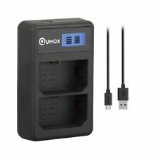 QUMOX NP-FZ100 BC-QZ1 Kamera Akku LCD Dual Ladegerät für Sony A7III A9 A7RIII 02