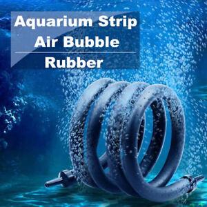 Aquarium Air Bubble Rubber Strip Tube Fish Tank Aerator Oxygen Pump Diffuser US