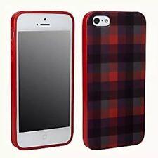 Pure Gear Iphone 5 Soft Shell Gel Flexible Durability Slim Case Red Purple Plaid