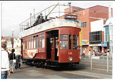 Tram Photo Hill of Howth Car 10, at Blackpool, Sandcastle Livery 1987-88