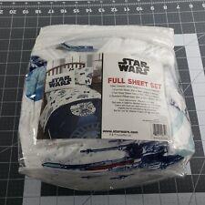 Disney Star Wars Full Sheet Set 1 Fitted Sheet 2 Pillowcases No Flat Sheet