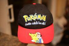 Ultra Rare Vintage 90's Pokémon Nintendo Strap Back Hat Cap ! Pocket Monsters