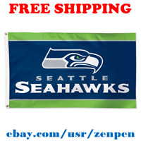 Deluxe Seattle Seahawks Team Logo Flag Banner 3x5 ft NFL Football 2019 NEW