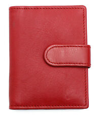 Genuine Soft Leather Credit Card Holder Case Wallet For Mens Womens 602-Red