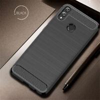 For Xiaomi Redmi Note 8 7 Pro 7A 6A Carbon Fiber Silicone TPU Rugged Case Cover