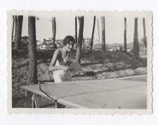 PHOTO Ancienne Ping Pong Sport collectif Table Raquette Vers 1930 Jeu Partie de