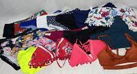 Lot Of Swimwear LARGE XL Mixed Tops Bottoms Colors 19 Pieces Swimsuit Bikini
