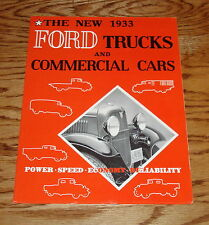 1933 Ford Truck & Commercial Car Sales Brouchure 33 Pickup Panel Express