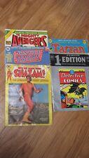 Lot of 5 Giant Oversize Comics Avengers, Justice League,Shazam,Tarzan,Detective