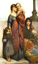 Flower Sellers of London 1875 by Gustave Dore Old Masters 11x19 Art Print