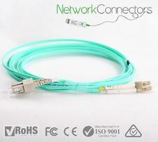 LC - SC OM4 Duplex Fibre Optic Cable (100M)