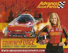 AUTOGRAPHED COURTNEY FORCE ADVANCE AUTO PARTS PHOTO CARD